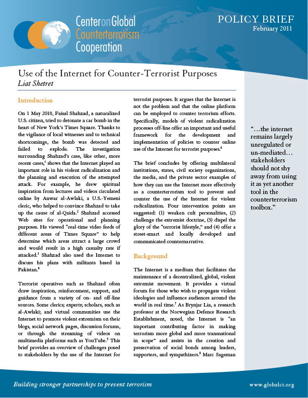 The internet can be used for terrorism