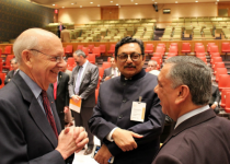 Associate Justice Stephen Breyer of the United States Supreme Court, Justice S.A. Bobde of the Indian Supreme Court, and Justice Asif Khosa of the Pakistani Supreme Court. Photo credit: UN Photo